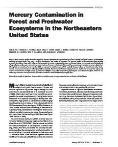 Mercury Contamination in Forest and Freshwater Ecosystems in the ...