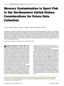 Mercury Contamination in Sport Fish in the Northeastern United States ...