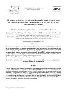 Mercury distribution in muscular tissues of a tropical carnivorous fish ...
