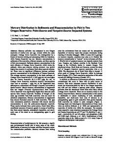 Mercury Distribution in Sediments and ... - Springer Link
