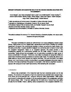 MERCURY EXPOSURE AND ECOSYSTEM HEALTH IN THE ... - UQAM