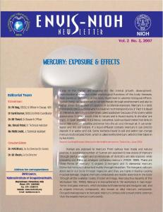 Mercury Exposure and effects - ENVIS NIOH