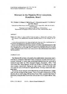 Mercury in the Madeira River ecosystem ... - ScienceDirect.com