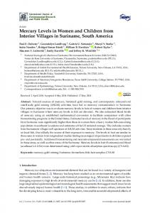 Mercury Levels in Women and Children from Interior Villages ... - MDPI