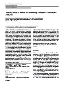 Mercury levels of marine fish commonly consumed in ... - CiteSeerX