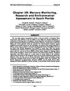Mercury Monitoring, Research and Environmental Assessment in ...