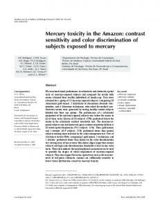 Mercury toxicity in the Amazon: contrast sensitivity and color ... - SciELO