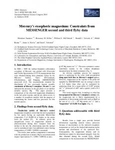 Mercury's exospheric magnesium: Constraints ... - Meeting Organizer