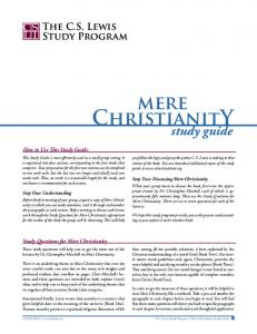 mere ChristianitY - CS Lewis Institute