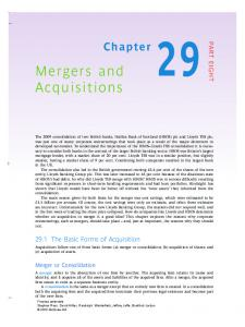 Mergers and Acquisitions - Ateneonline