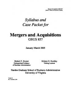 Mergers and Acquisitions (MBA).