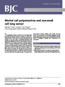 Merkel cell polyomavirus and non-small cell lung cancer - Nature