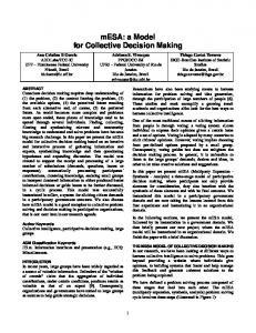 mESA: a Model for Collective Decision Making - PARC, a Xerox ...