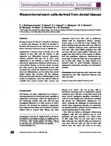 Mesenchymal stem cells derived from dental ... - Wiley Online Library