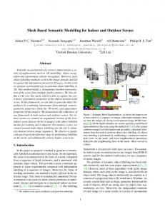 Mesh Based Semantic Modelling for Indoor and Outdoor Scenes