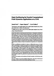 Mesh Partitioning for Parallel Computational Fluid Dynamics ...