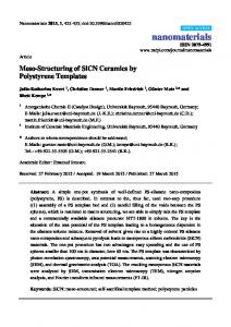 Meso-Structuring of SiCN Ceramics by Polystyrene Templates - MDPI