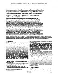 Mesopause structure from Thermosphere ... - Wiley Online Library