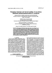 Mesophase behaviour and thermal stability of octa-alkoxy ... - Core