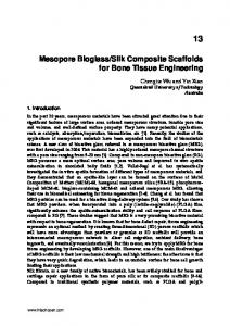 Mesopore Bioglass/Silk Composite Scaffolds for Bone ... - InTech