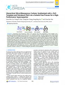 Mesoporous Carbons ... - ACS Publications
