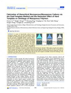 Mesoporous Carbons via the