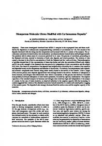 Mesoporous Molecular Sieves Modified with ... - Springer Link