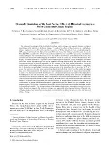 Mesoscale Simulations of the Land Surface Effects of Historical ...