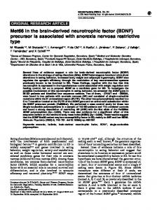 Met66 in the brain-derived neurotrophic factor (BDNF) - Nature