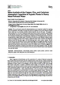Meta-Analysis of the Copper, Zinc, and Cadmium Absorption ... - MDPI
