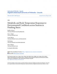 Metabolic and Body Temperature Responses to Environmental ...