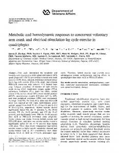 Metabolic and hemodynamic responses to concurrent ... - CiteSeerX