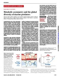 Metabolic asymmetry and the global diversity of