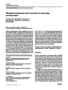Metabolic components and recurrence in early-stage cervical cancer