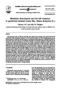 Metabolic detoxication and the kdr mutation in ...