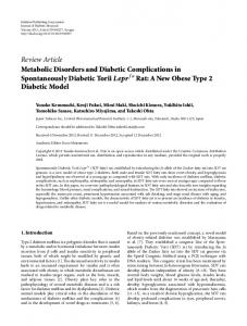 Metabolic Disorders and Diabetic Complications in Spontaneously ...