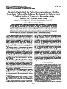Metabolic Flux in Both the Purine Mononucleotide and Histidine ...