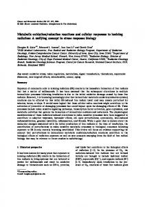 Metabolic oxidation/reduction reactions and cellular ... - Springer Link