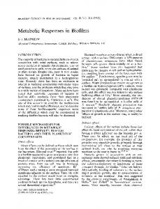 Metabolic Responses in Biofilms