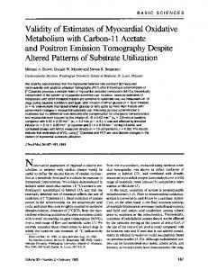 Metabolism with Carbon-11 Acetate Altered Patterns of ...
