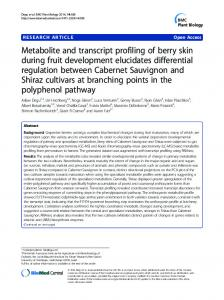 Metabolite and transcript profiling of berry skin during fruit ... - univr