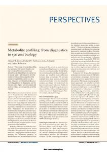 Metabolite profiling: from diagnostics to systems biology