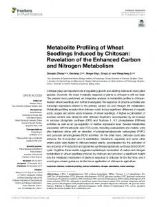 Metabolite Profiling of Wheat Seedlings Induced