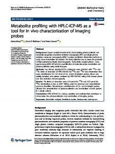 Metabolite profiling with HPLC-ICP-MS as a tool for in vivo ...