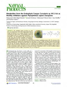 Metabolites from the Endophytic Fungus ... - ACS Publications
