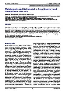 Metabolomics and Its Potential in Drug Discovery