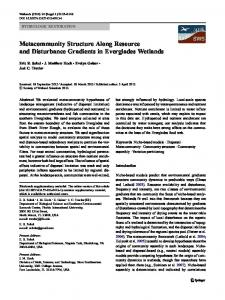 Metacommunity Structure Along Resource and ... - Springer Link