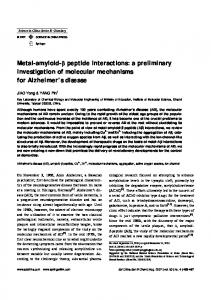 Metal-amyloid-β peptide interactions: a preliminary investigation of
