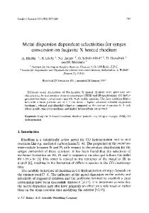 Metal dispersion dependent selectivities for syngas ... - Springer Link