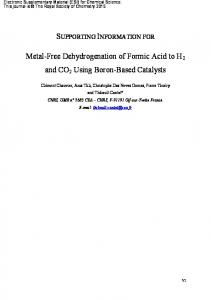Metal-Free Dehydrogenation of Formic Acid to H2 and CO2 Using